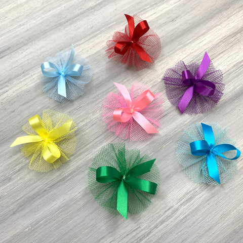 New - Basic Collection - 7/16 Size Bows - 14 Colors - 50 Medium Bows