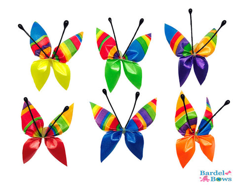 Butterfly Bows - Bright Colors - 36 Bows