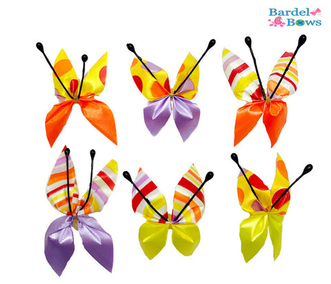 Butterfly Circus Collection - Yellow - 36 Bows