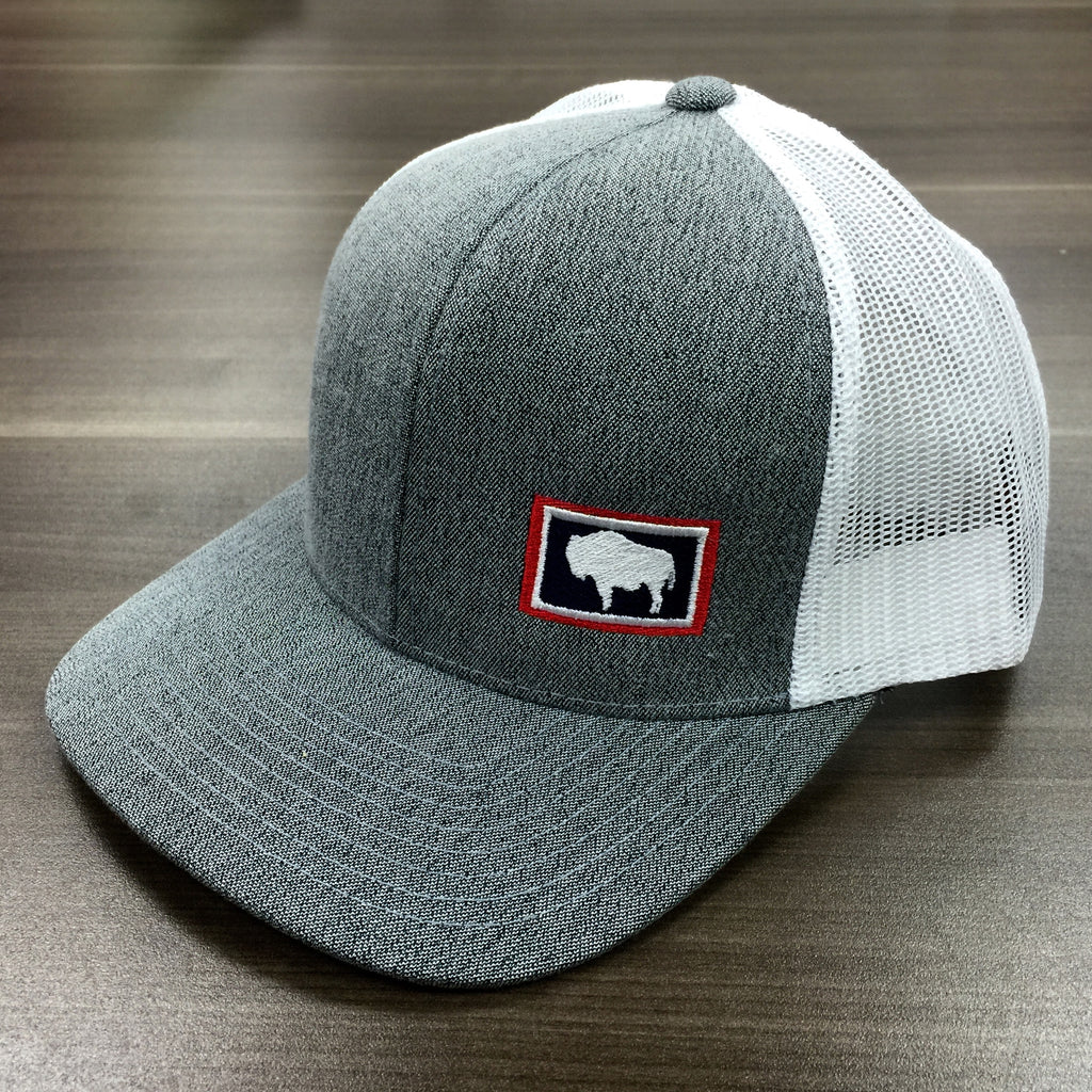 1917 Mid-Pro Snap Cap - Charcoal White – Adventure Wyoming 312cbc395