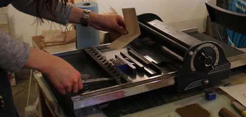 Picture of letter press printing