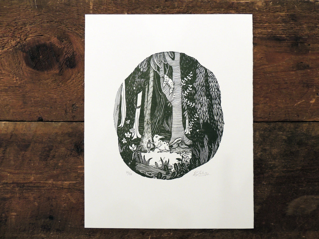 Toko Hosoya Letterpress Print - Graven Feather