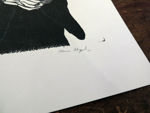 Dave Sheppard letterpress Print - Graven Feather