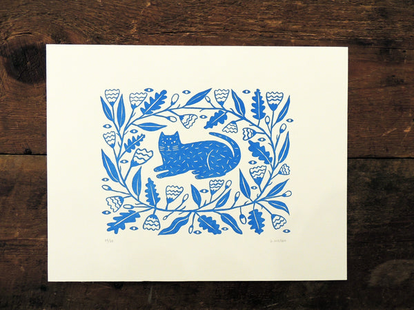 Gilllian Wilson Letterpress Print - Graven Feather