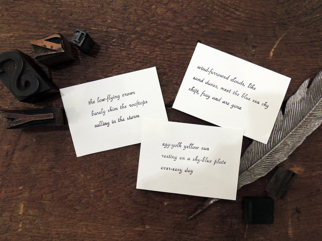 Poetry Card 3 Pack - Graven Feather