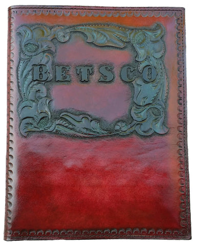 Personalized Hand Made Leather Portfolio/Notebook for Legal Pads & Business Cards