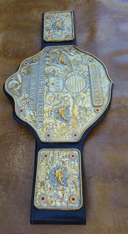 Custom Made Leather Wrestling Belt, Special Projects - Behind The Wire Shop