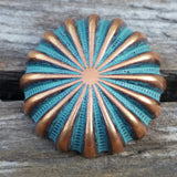"2403WS-N40 1 1/4"" Copper Patina Parachute Decorative Wood Screw, Decorative Metal Pieces - Behind The Wire Shop"