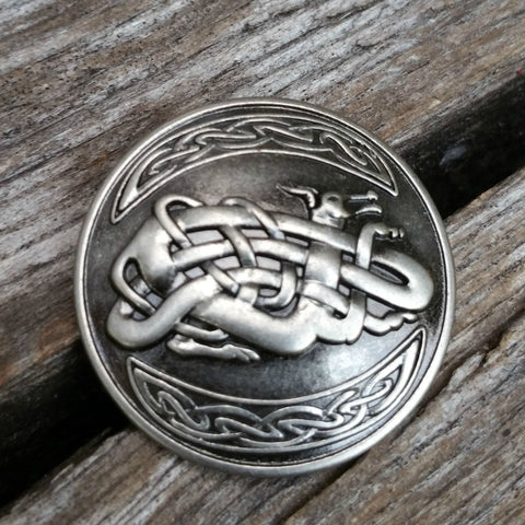 "2125WS-E06 1"" Antique Nickel Celtic Chinese Dragon Decorative Wood Screw, Decorative Metal Pieces - Behind The Wire Shop"