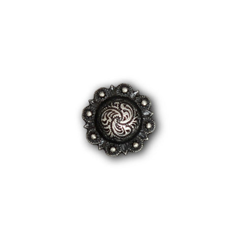 "2303SB-C15 1/2"" Pewter Decorative Mini Traditional Berry Concho, Conchos - Behind The Wire Shop"