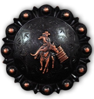 "2333SB-W48 4 1/4"" Rustic Rose Berry Barrel Racing Concho, Conchos - Behind The Wire Shop"