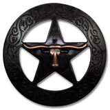 "2923SB-K48 1 1/8"" Rustic Rose Copper Traditional Texas Steer Concho, Conchos - Behind The Wire Shop"