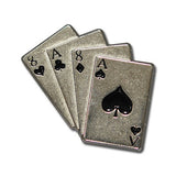 "5100-RC 7/8"" Aces & 8's Antique Nickel Deck of Cards Rivet Concho, Conchos - Behind The Wire Shop"