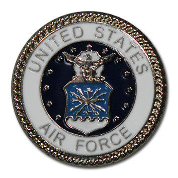 "5111-CC 1"" Full Color Air force Logo Decorative Metal Piece, Decorative Metal Pieces - Behind The Wire Shop"