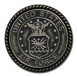 "5120-CC 1""  US Airforce Emblem Antique Nickel Round Decorative Metal Piece"