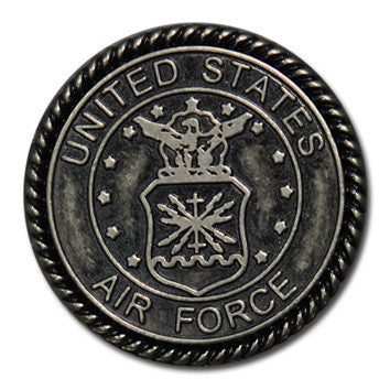 "5120-CC 1""  US Airforce Emblem Antique Nickel Round Decorative Metal Piece, Decorative Metal Pieces - Behind The Wire Shop"