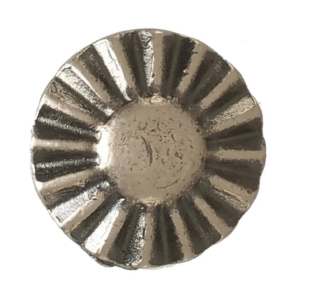 "5130-CC 5/8""  Sunburst Antique Nickel Decorative Metal Piece, Decorative Metal Pieces - Behind The Wire Shop"