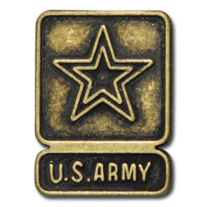 "5160-CC 5/8""  US Army Star Emblem Antique Brass Decorative Metal Piece, Decorative Metal Pieces - Behind The Wire Shop"