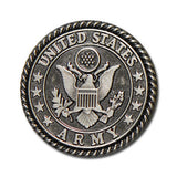 "5165-SN 1""  US Army Emblem Antique Nickel Round Button Snaps, Snaps - Behind The Wire Shop"