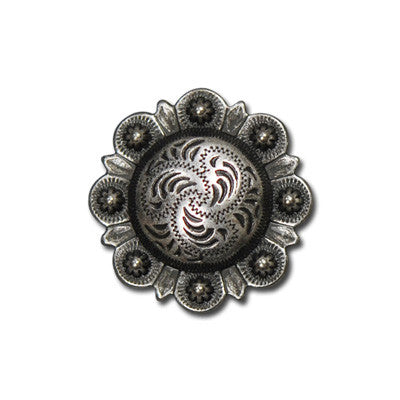 "5170-SN 3/4""  Western Berry Style Concho Old Silver Decorative Snaps, Snaps - Behind The Wire Shop"