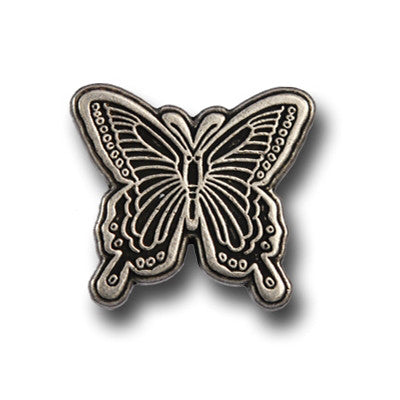 "5190-CC 3/4""  Butterfly Antique Nickel Decorative Metal Piece, Decorative Metal Pieces - Behind The Wire Shop"