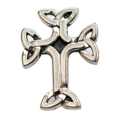 "5210-SN 7/8""  Antique Nickel Celtic Cross Button Snaps"