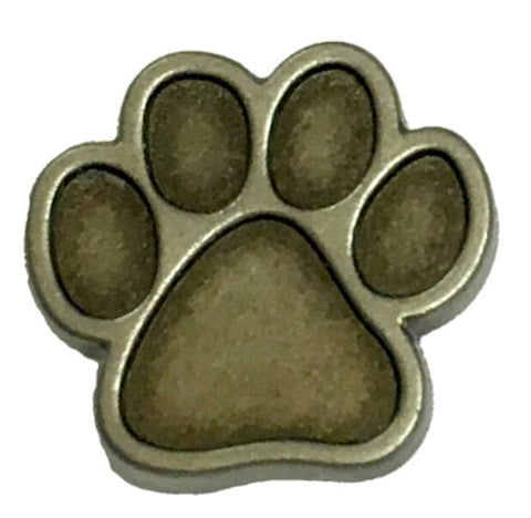 "5232-RC 5/8""  Antique Nickel Dog Paw Print Decorative Rivet Concho"