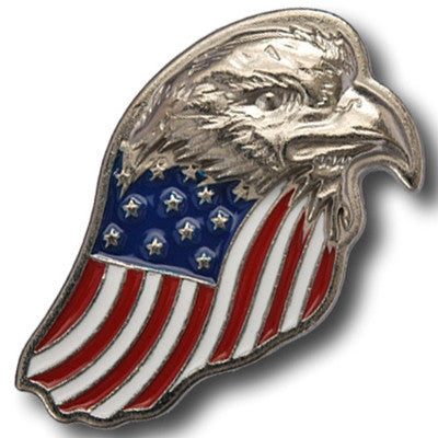 "5250-SN 1 1/8""  Patriotic Eagle with US Flag Decorative Metal Snaps, Snaps - Behind The Wire Shop"