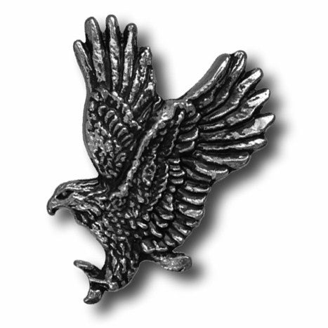 "5260-SN 1""  Antique Nickel Soaring Eagle Decorative Metal Snaps, Snaps - Behind The Wire Shop"