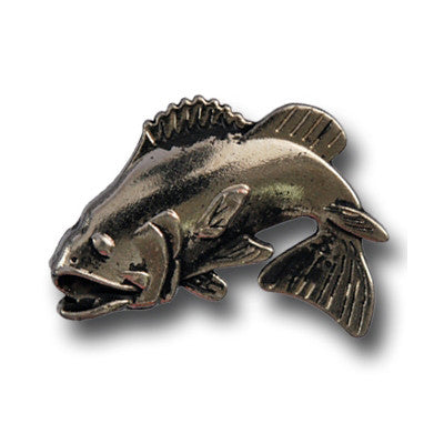 "5270-CC 1""  Bass Fish Antique Nickel Decorative Metal Piece, Decorative Metal Pieces - Behind The Wire Shop"