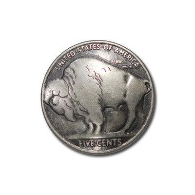 "5271-CC 3/4"" Antique Nickel Buffalo Coin Replica Decorative Metal Piece"