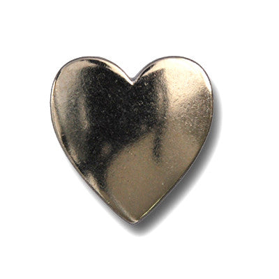 "5287-CC 3/4""  Plain Nickel Heart Decorative Metal Piece"