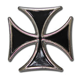 "5300-SN 1 1/8"" Black Maltese Biker Iron Cross Decorative Snap Buttons, Snaps - Behind The Wire Shop"