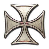 "5320-SN 1 1/8"" Antiqued Nickel Maltese Biker Iron Cross Decorative Craft Buttons, Snaps - Behind The Wire Shop"