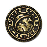 "5330-SN 1""  US Marines Bull Dog Emblem Antique Brass Decorative Metal Button Snaps"