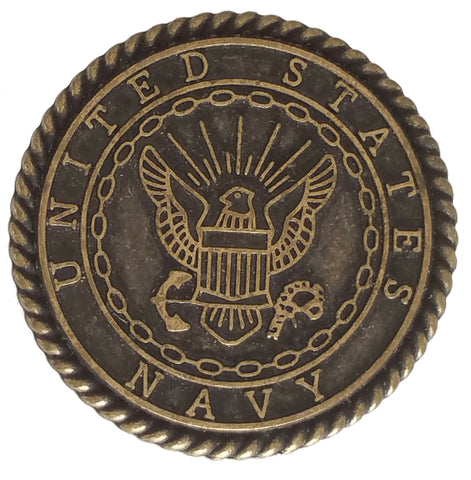 "5440-RC 1""  US Navy Seal Emblem Antique Brass Decorative Rivet Concho, Conchos - Behind The Wire Shop"
