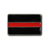 "5471-RC 1""  Fire Department Thin Red Line Flag Rivet concho, Conchos - Behind The Wire Shop"