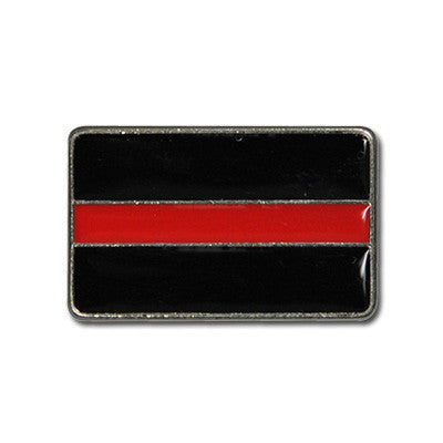 "5471-PN 1""  Fire Department Thin Red Line Flag Lapel Pin, Pins - Behind The Wire Shop"