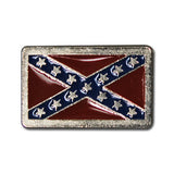 "5482-RC 1"" Traditional Colored Rebel Flag Decorative Rivet concho, Conchos - Behind The Wire Shop"