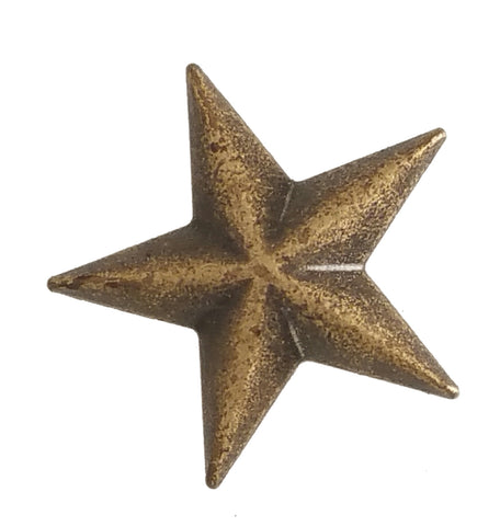 "5540-SN 3/4"" Antique Brass / Bronze Star Decorative Metal Snap Buttons, Snaps - Behind The Wire Shop"
