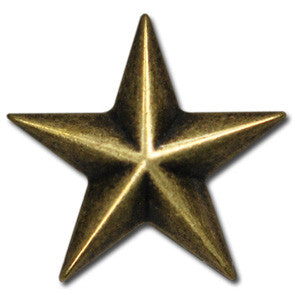 "5560-CC 1"" Antique Brass Star Decorative Metal Piece, Decorative Metal Pieces - Behind The Wire Shop"