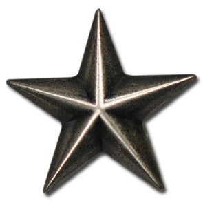 "5570-CC 1"" Antique Nickel Star Decorative Metal Piece, Decorative Metal Pieces - Behind The Wire Shop"