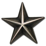 "5570-SN 1"" Military Silver Star Decorative Snap Buttons, Snaps - Behind The Wire Shop"