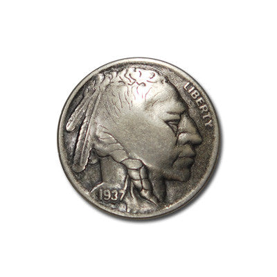 5635-RC Antique Nickel Indian Head Coin Replica Rivet Concho
