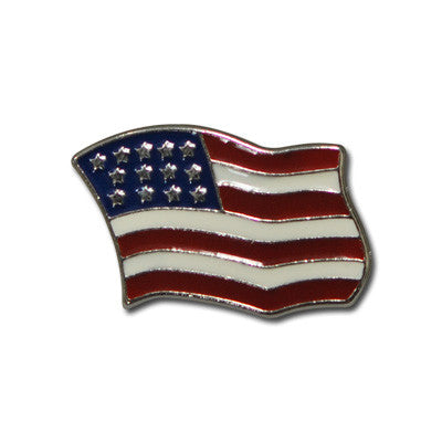 "5640-CC 7/8""  Color USA Wavy Flag Decorative Metal Piece, Decorative Metal Pieces - Behind The Wire Shop"