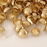 "6111-E99 5/16""  Gold Raw Brass 2 Prong Plain Dome Decorative Spots & Studs, Metal Spots & Studs - Behind The Wire Shop"