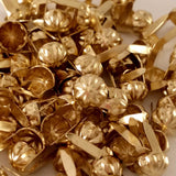 "6411-A99 1/4""  Gold Raw Brass 2 Prong Western Parachute Decorative Spots & Studs, Metal Spots & Studs - Behind The Wire Shop"