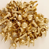 "6611-A99 1/4"" Gold Raw Brass 2 Prong Western Sunburst Decorative Spots & Studs, Metal Spots & Studs - Behind The Wire Shop"