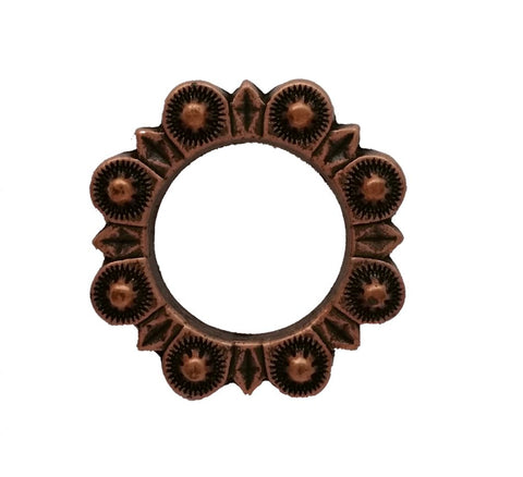 "832-L28 1"" Antique Copper Berry Style O Ring"