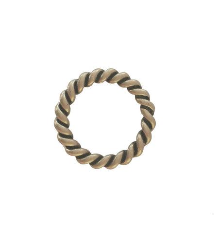 "852-L15 1"" Antique Nickel Rope Style O Ring"